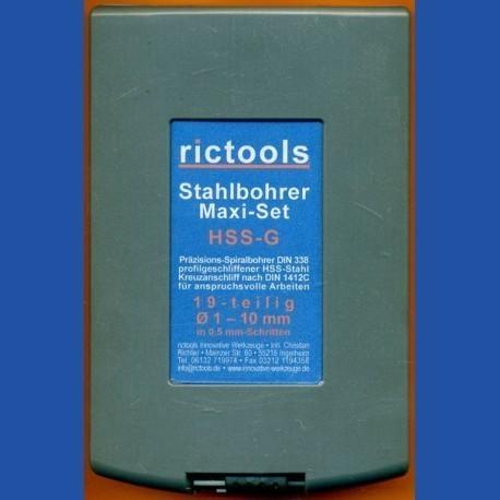 rictools Stahlbohrer HSS-G-TiN Maxi-Set
