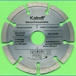 Kaindl Hochleistungs-Diamant-Trennscheibe für Einhand-Winkelschleifer Ø 115 mm