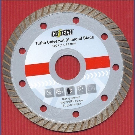 CO/TECH Diamant-Trennscheibe Turbo Universal Ø 115 mm