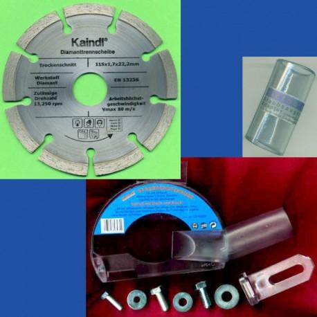 Kaindl Stein-Trenn-Set für Einhand-Winkelschleifer Ø 115 mm
