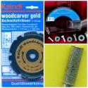 Kaindl woodcarver gold Set – für 115 mm-Winkelschleifer