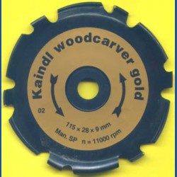 Kaindl woodcarver gold, Ø 115 mm