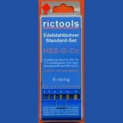 rictools Edelstahlbohrer HSS-G-Co Standard-Set