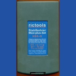 rictools Stahlbohrer HSS-G Handwerker-Set