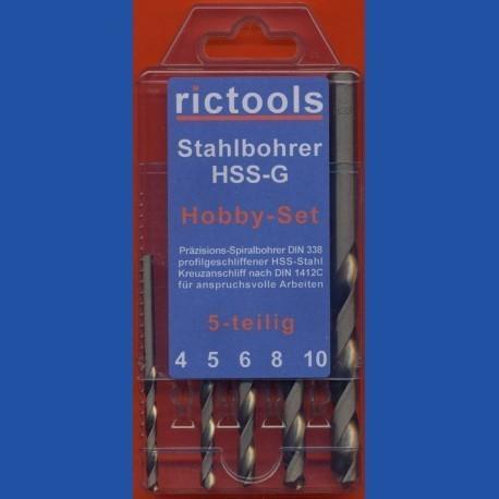 rictools Stahlbohrer HSS-G Hobby-Set