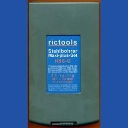 rictools Stahlbohrer HSS-G-TiN Maxi-plus-Set