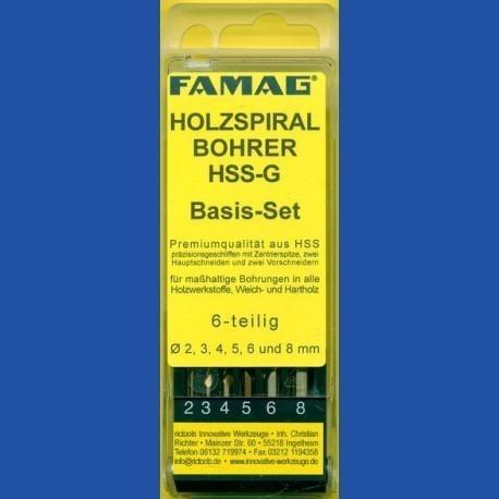 FAMAG Holzspiralbohrer HSS-G Basis-Set