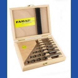 FAMAG Holzspiralbohrer HSS-G Montage-Set