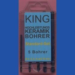 KING Hochleistungs-Keramikbohrer Standard-Set