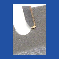 Erneuern eines ausgebrochenen Hartmetall-Zahns