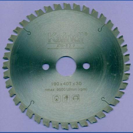 Kaindl XTR-S 2.0 Multisägeblatt für Kreissägen – Ø 190 mm, Bohrung 30 mm