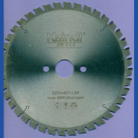 Kaindl XTR-S 2.0 Multisägeblatt für Kreissägen – Ø 220 mm, Bohrung 30 mm