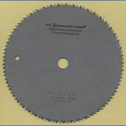 H.O. Schumacher+Sohn Kreissägeblatt Chrom-Vanadium C Feinstzahn – Ø 184 mm, Bohrung 16 mm