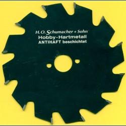 H.O. Schumacher+Sohn Hartmetallbestücktes Kreissägeblatt Hobby Grobzahn antihaftbeschichtet – Ø 140 mm, Bohrung 20 mm