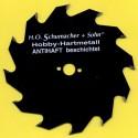 H.O. Schumacher+Sohn Hartmetallbestücktes Kreissägeblatt Hobby Grobzahn antihaftbeschichtet – Ø 142 mm, Bohrung 13 mm