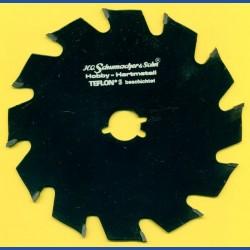 H.O. Schumacher+Sohn Hartmetallbestücktes Kreissägeblatt Hobby Grobzahn antihaftbeschichtet – Ø 143 mm, Bohrung 19 mm (3/4'')
