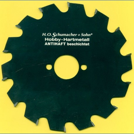 H.O. Schumacher+Sohn Hartmetallbestücktes Kreissägeblatt Hobby Grobzahn antihaftbeschichtet – Ø 160 mm, Bohrung 30 mm