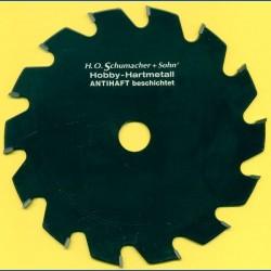 H.O. Schumacher+Sohn Hartmetallbestücktes Kreissägeblatt Hobby Grobzahn antihaftbeschichtet – Ø 170 mm, Bohrung 20 mm