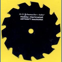 H.O. Schumacher+Sohn Hartmetallbestücktes Kreissägeblatt Hobby Grobzahn antihaftbeschichtet – Ø 190 mm, Bohrung 16 mm