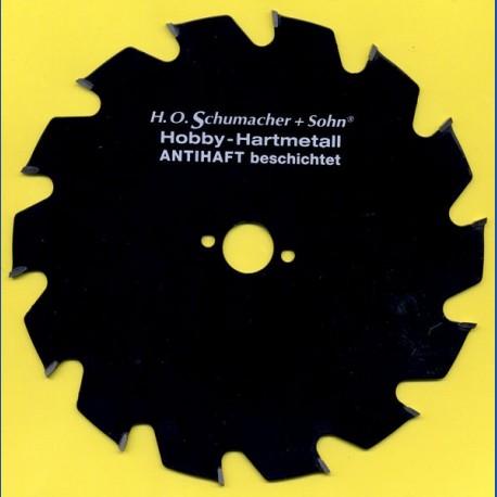 H.O. Schumacher+Sohn Hartmetallbestücktes Kreissägeblatt Hobby Grobzahn antihaftbeschichtet – Ø 190 mm, Bohrung 20 mm