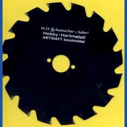 H.O. Schumacher+Sohn Hartmetallbestücktes Kreissägeblatt Hobby Grobzahn antihaftbeschichtet – Ø 210 mm, Bohrung 30 mm