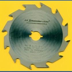 H.O. Schumacher+Sohn Hartmetallbestücktes Kreissägeblatt Standard Grobzahn – Ø 143 mm, Bohrung 19 mm (3/4'')