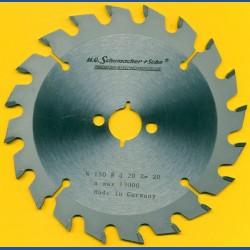 H.O. Schumacher+Sohn Hartmetallbestücktes Kreissägeblatt Standard Mittelzahn – Ø 150 mm, Bohrung 20 mm