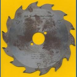 H.O. Schumacher+Sohn Hartmetallbestücktes Kreissägeblatt Standard Grobzahn – Ø 180 mm, Bohrung 30 mm