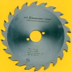 H.O. Schumacher+Sohn Hartmetallbestücktes Kreissägeblatt Standard Mittelzahn – Ø 180 mm, Bohrung 30 mm
