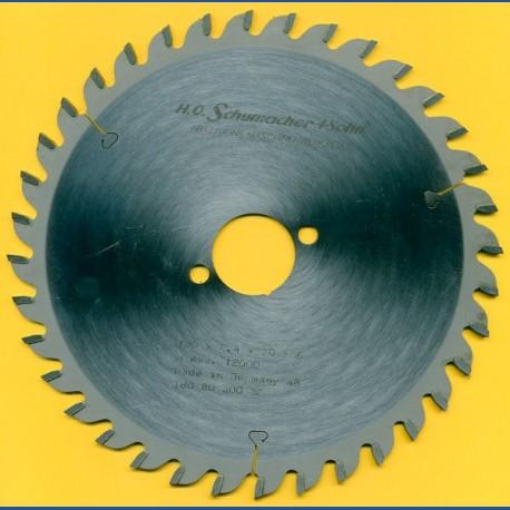 H.O. Schumacher+Sohn Hartmetallbestücktes Kreissägeblatt Standard Feinzahn – Ø 180 mm, Bohrung 30 mm