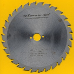H.O. Schumacher+Sohn Hartmetallbestücktes Kreissägeblatt Standard Mittelzahn – Ø 190 mm, Bohrung 20 mm