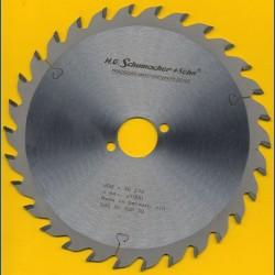 H.O. Schumacher+Sohn Hartmetallbestücktes Kreissägeblatt Standard Mittelzahn – Ø 200 mm, Bohrung 30 mm