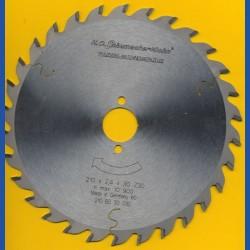 H.O. Schumacher+Sohn Hartmetallbestücktes Kreissägeblatt Standard Mittelzahn – Ø 210 mm, Bohrung 30 mm