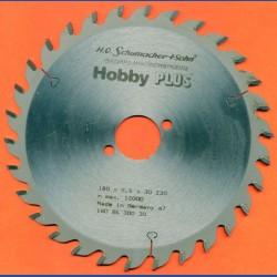 H.O. Schumacher+Sohn Hartmetallbestücktes Kreissägeblatt Hobby PLUS – Ø 180 mm, Bohrung 30 mm