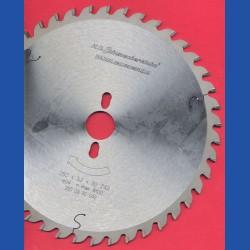 H.O. Schumacher+Sohn Hartmetallbestücktes Präzisions-Kreissägeblatt Typ UW Universalzahn – Ø 250 mm, Bohrung 30 mm
