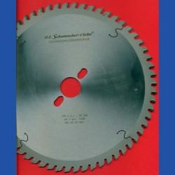H.O. Schumacher+Sohn Hartmetallbestücktes Präzisions-Kreissägeblatt Typ KW Feinzahn – Ø 250 mm, Bohrung 30 mm