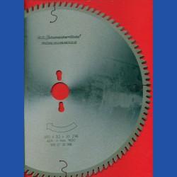H.O. Schumacher+Sohn Hartmetallbestücktes Präzisions-Kreissägeblatt Typ VW Feinstzahn – Ø 300 mm, Bohrung 30 mm