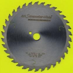 H.O. Schumacher+Sohn Hartmetallbestücktes Kreissägeblatt Standard Feinzahn extra dünn f. Akkukreissägen – Ø 165 mm, Bohrung 16 m