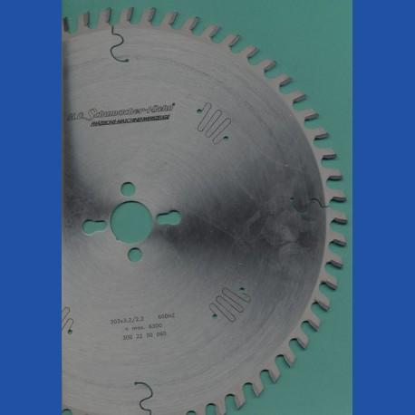 H.O. Schumacher+Sohn Spezial-Kreissägeblatt HW Dach-Hohlzahn positiv – Ø 302 mm, Bohrung 30 mm