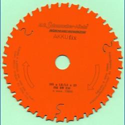 H.O. Schumacher+Sohn Hartmetallbestücktes Kreissägeblatt AKKUfix Universal teflonbeschichtet – Ø 165 mm, Bohrung 20 mm