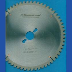 H.O. Schumacher+Sohn Hartmetallbestücktes Kreissägeblatt NE-negativ sehr fein – Ø 250 mm, Bohrung 30 mm
