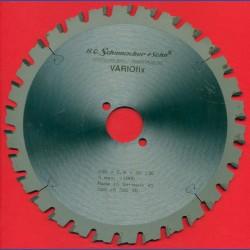 H.O. Schumacher+Sohn Hartmetallbestücktes Kreissägeblatt VARIOfix – Ø 200 mm, Bohrung 30 mm