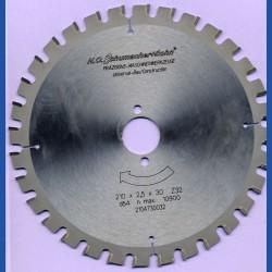 H.O. Schumacher+Sohn Universal-Bau-Kreissägeblatt – Ø 210 mm, Bohrung 30 mm
