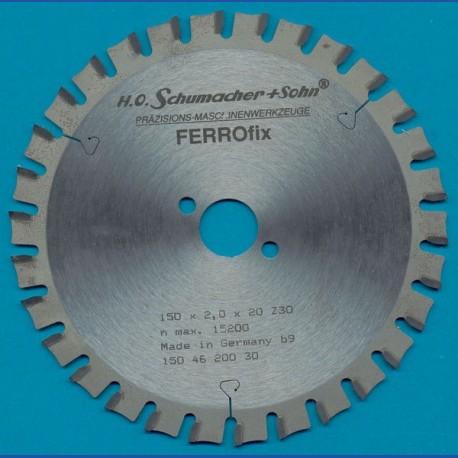 H.O. Schumacher+Sohn Hartmetallbestücktes Kreissägeblatt FERROfix fein – Ø 150 mm, Bohrung 20 mm