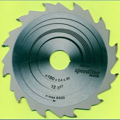 BOSCH speedline WOOD Grobzahn Kreissägeblatt – Ø 180 mm, Bohrung 30 mm