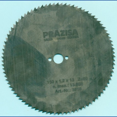 PRÄZISA Jännsch Chrom-Vanadium Kreissägeblatt Type B Feinzahn – Ø 150 mm, Bohrung 13 mm