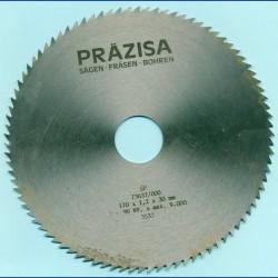 PRÄZISA Jännsch Chrom-Vanadium Kreissägeblatt Type B Feinzahn – Ø 170 mm, Bohrung 30 mm