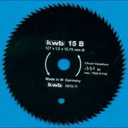 kwb Profilholzblatt Typ B Chrom Vanadium fein antihaftbeschichtet – Ø 127 mm (5''), Bohrung 12,75 mm (1/2'')