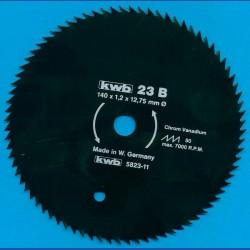kwb Profilholzblatt Typ B Chrom Vanadium fein antihaftbeschichtet – Ø 140 mm, Bohrung 12,75 mm (1/2'')