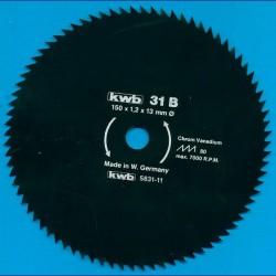 kwb Profilholzblatt Typ B Chrom Vanadium fein antihaftbeschichtet – Ø 150 mm, Bohrung 13 mm